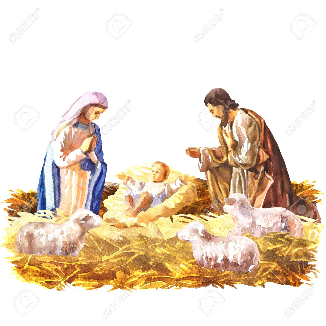 Christmas Nativity.Stock Illustration