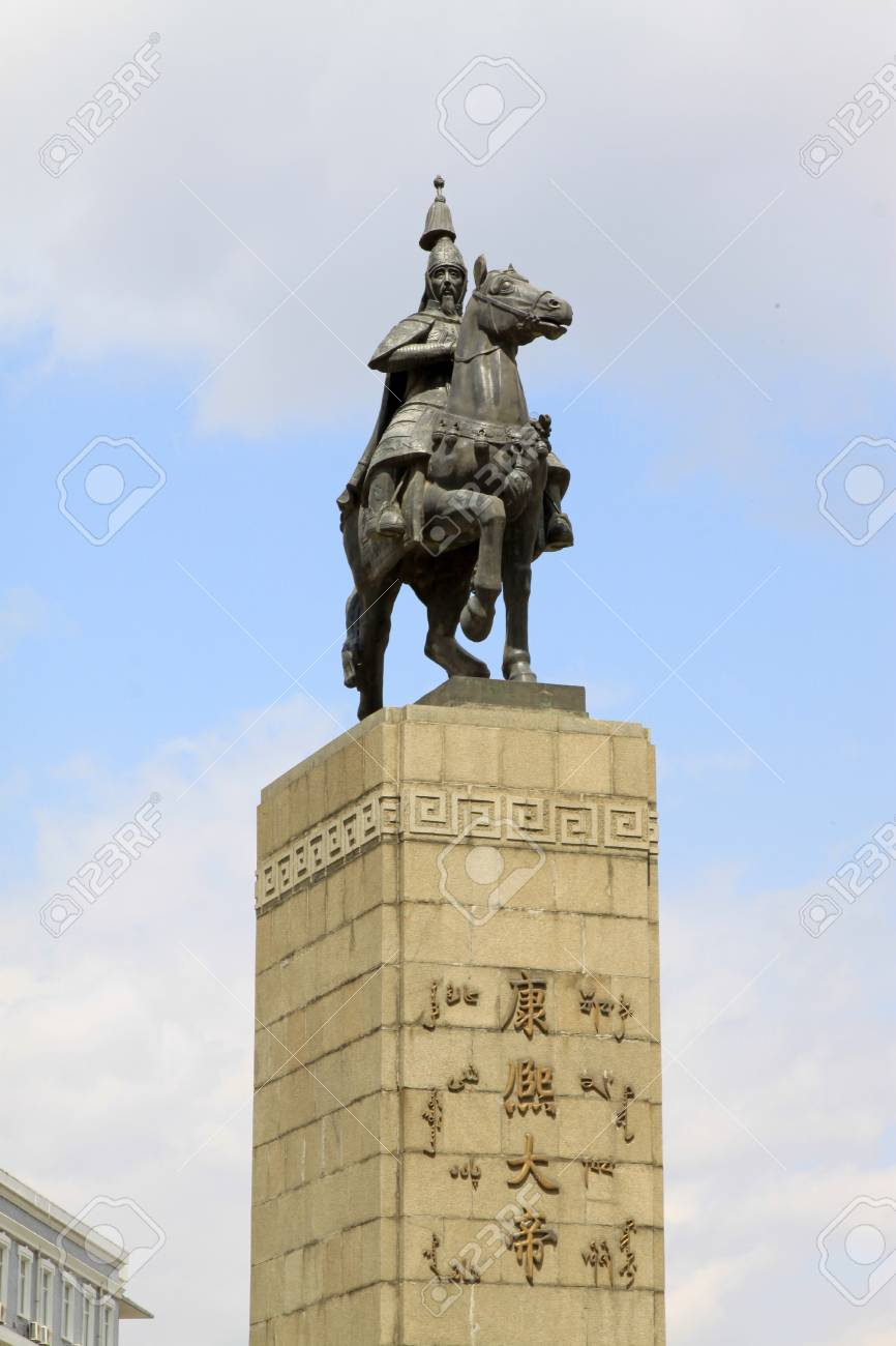 closeup of figure statue, in a pure color background, China Stock Photo - 18191634