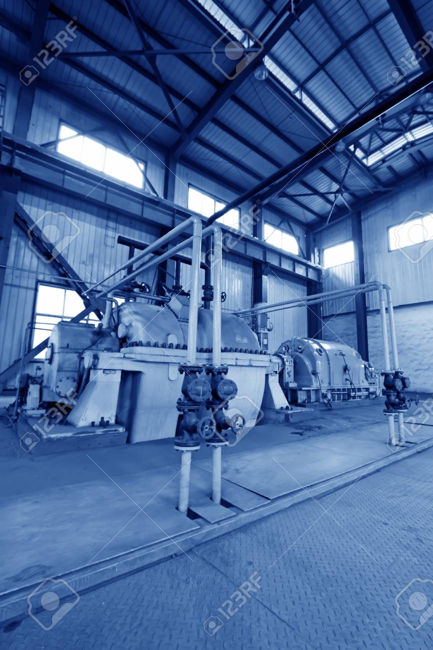 blast furnace TRT Unit in a power plant, north china Stock Photo - 19107386