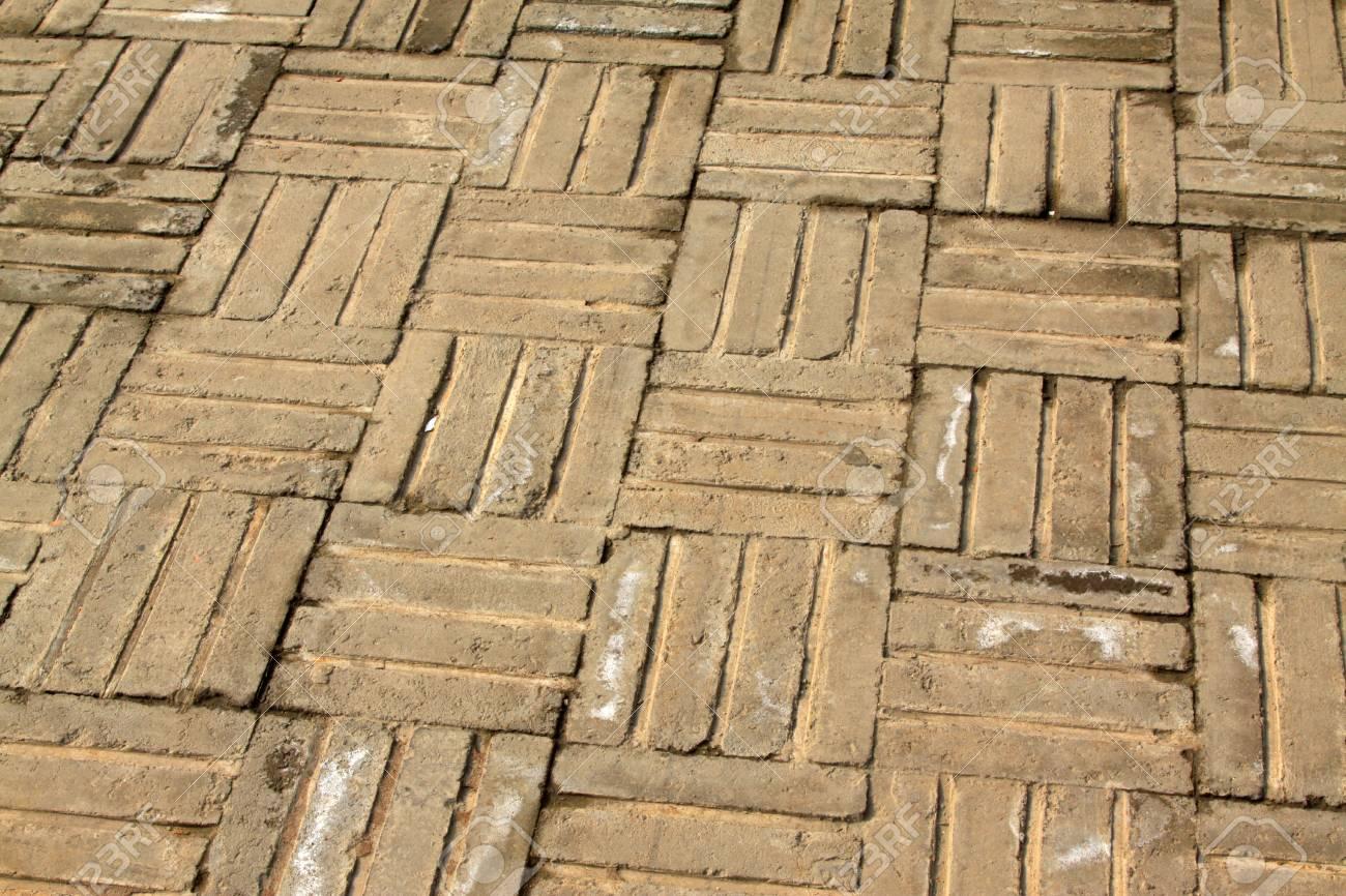 Banque dimages vieux plancher de briques grises donner à une personne une sorte de nostalgie
