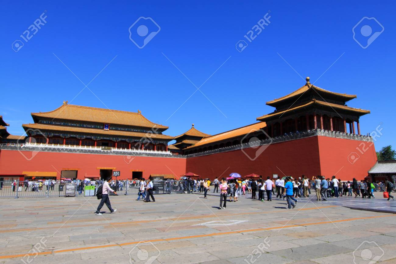 ancient Chinese traditional architectural landscape in the Imperial Palace, Beijing Stock Photo - 21100356