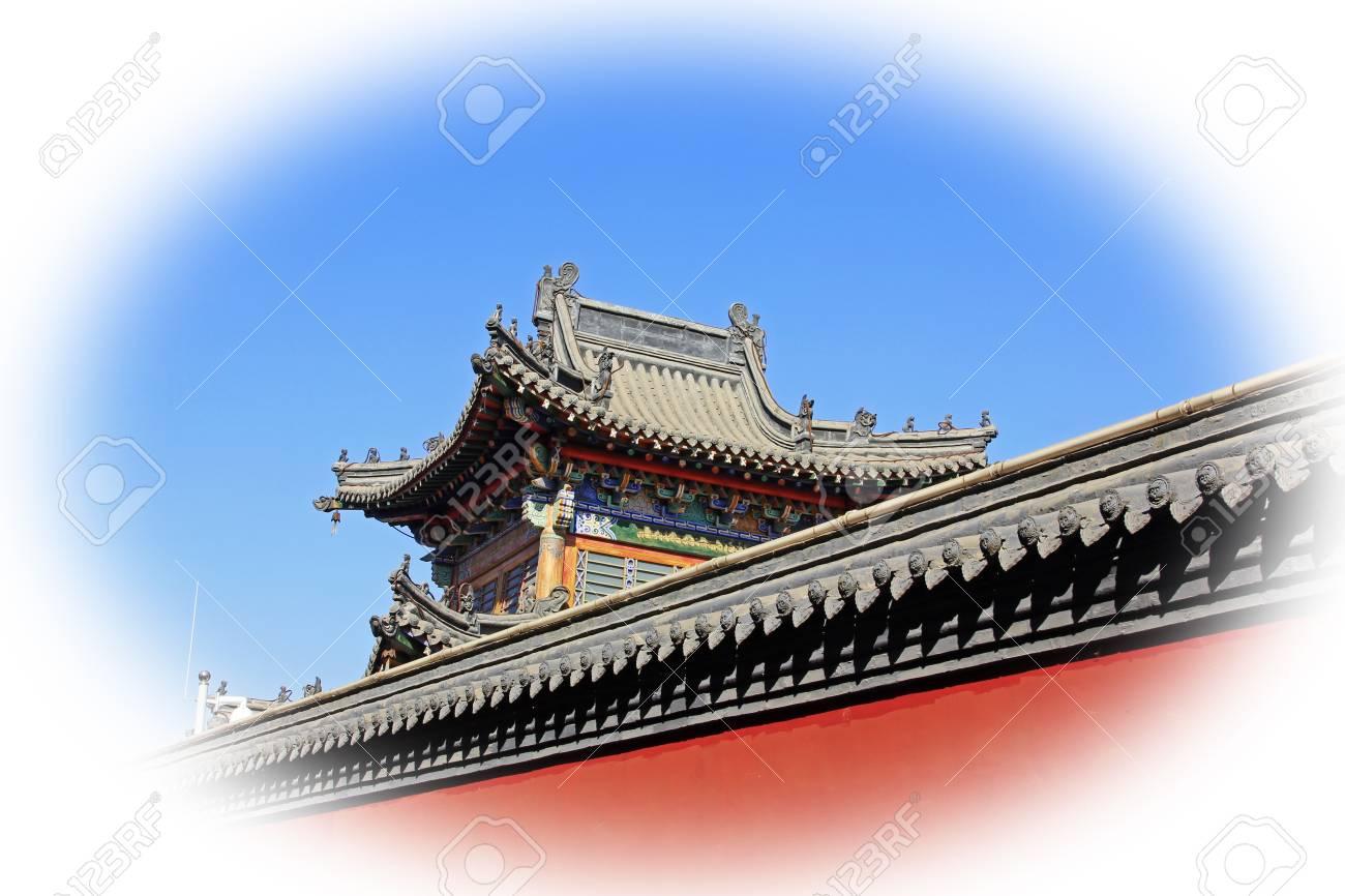 Pareti Grigie E Rosse : Immagini stock tetto grigio e pareti rosse nel tempio della