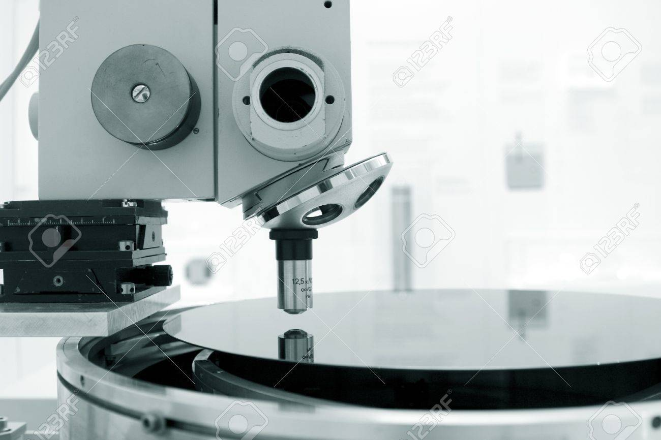 Scientific microscope in a laboratory with a single monocular objective conceptual of scientific or medical research Stock Photo - 14273335