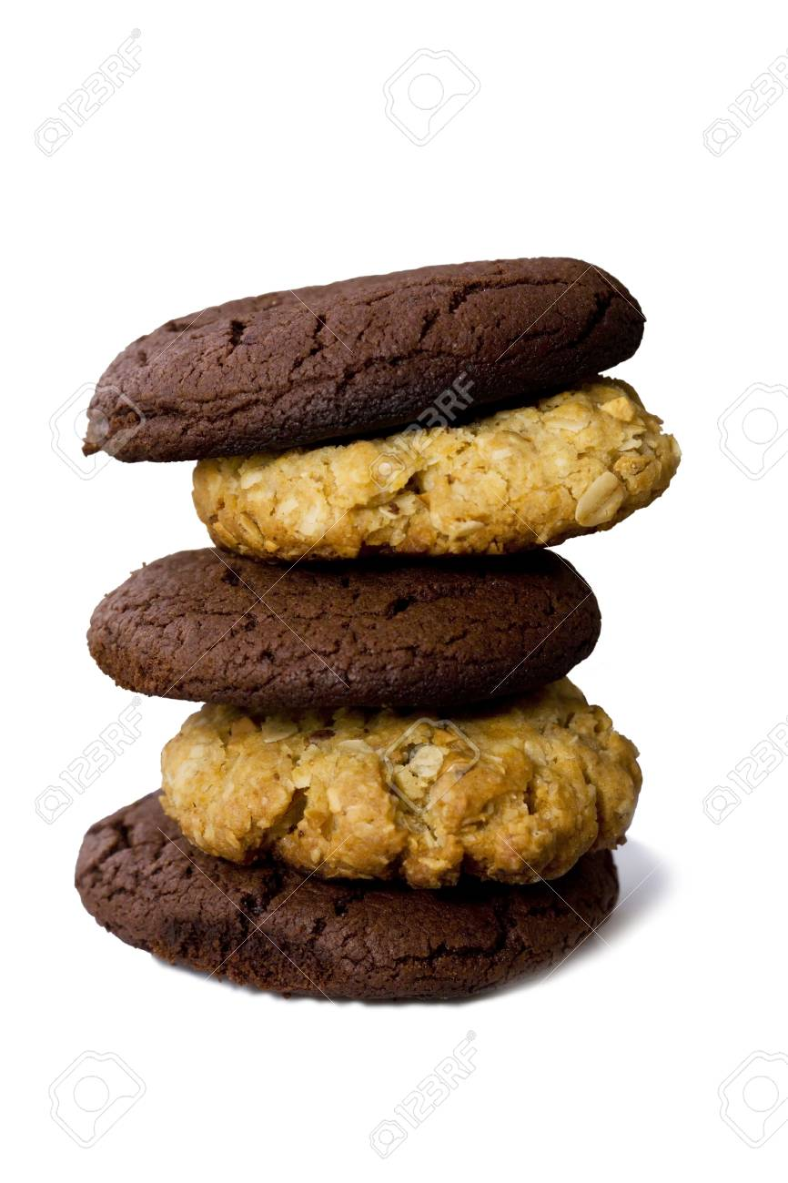 homemade cookies laid out on a stack of saucer Stock Photo - 11307945