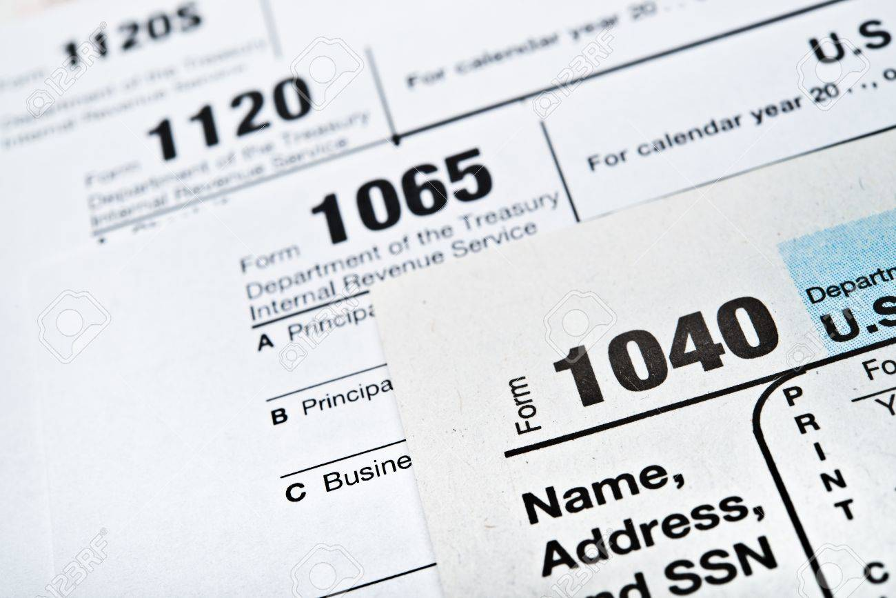 form 1065 and 1040  U.S. Income Tax Return forms 13,13,13