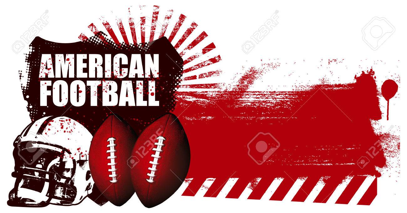 American Football Shield With Grunge Red Banner Royalty Free Cliparts Vectors And Stock Illustration Image 36646684