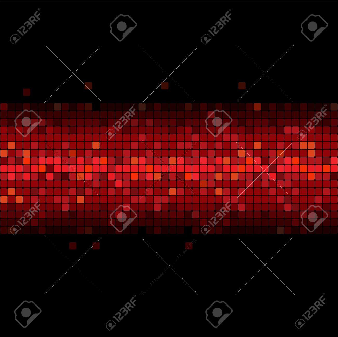 wide glowing red stripe on black background - 9113245