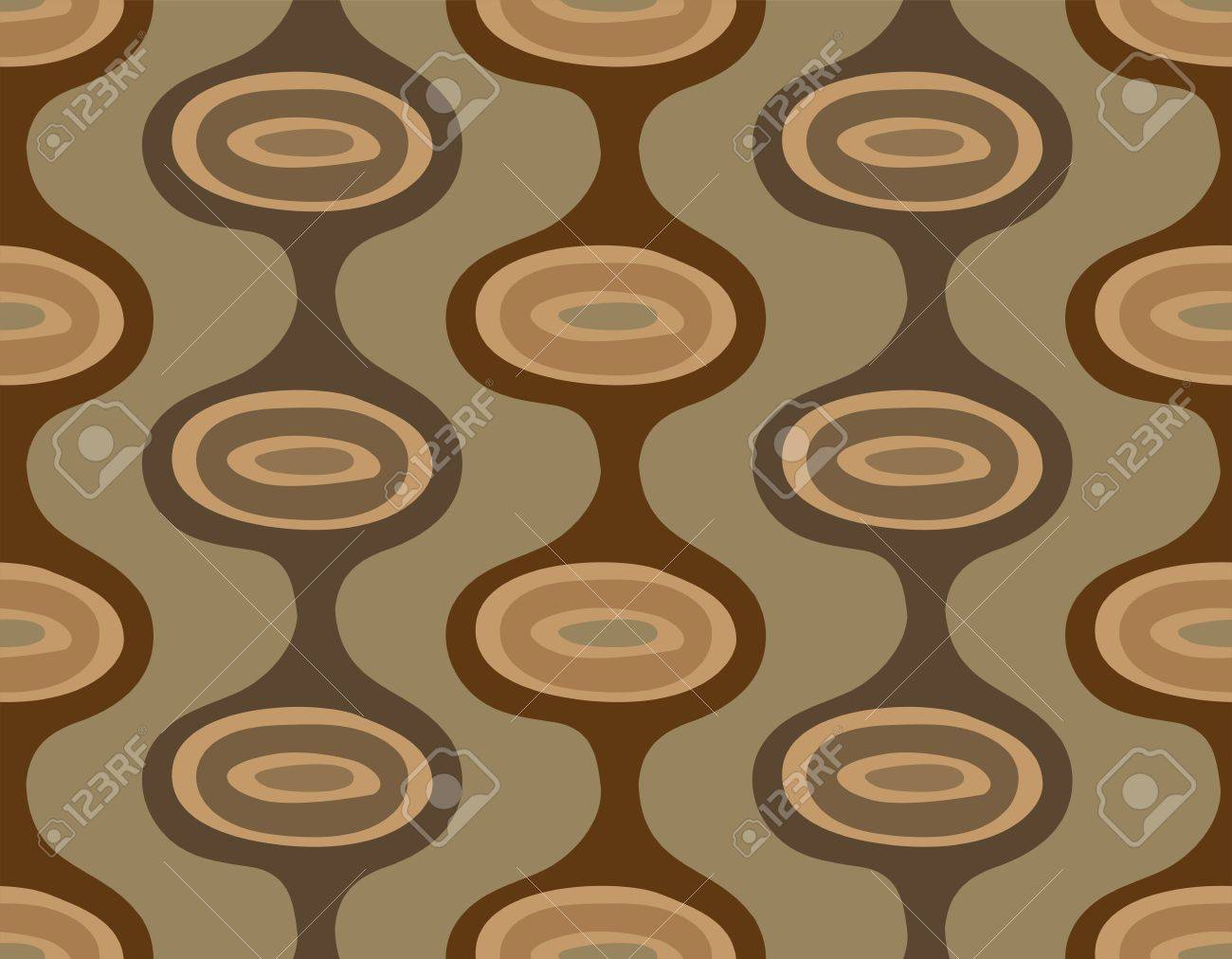 Seamless background of vertical brown stripes with ellipses Stock Vector - 9465144