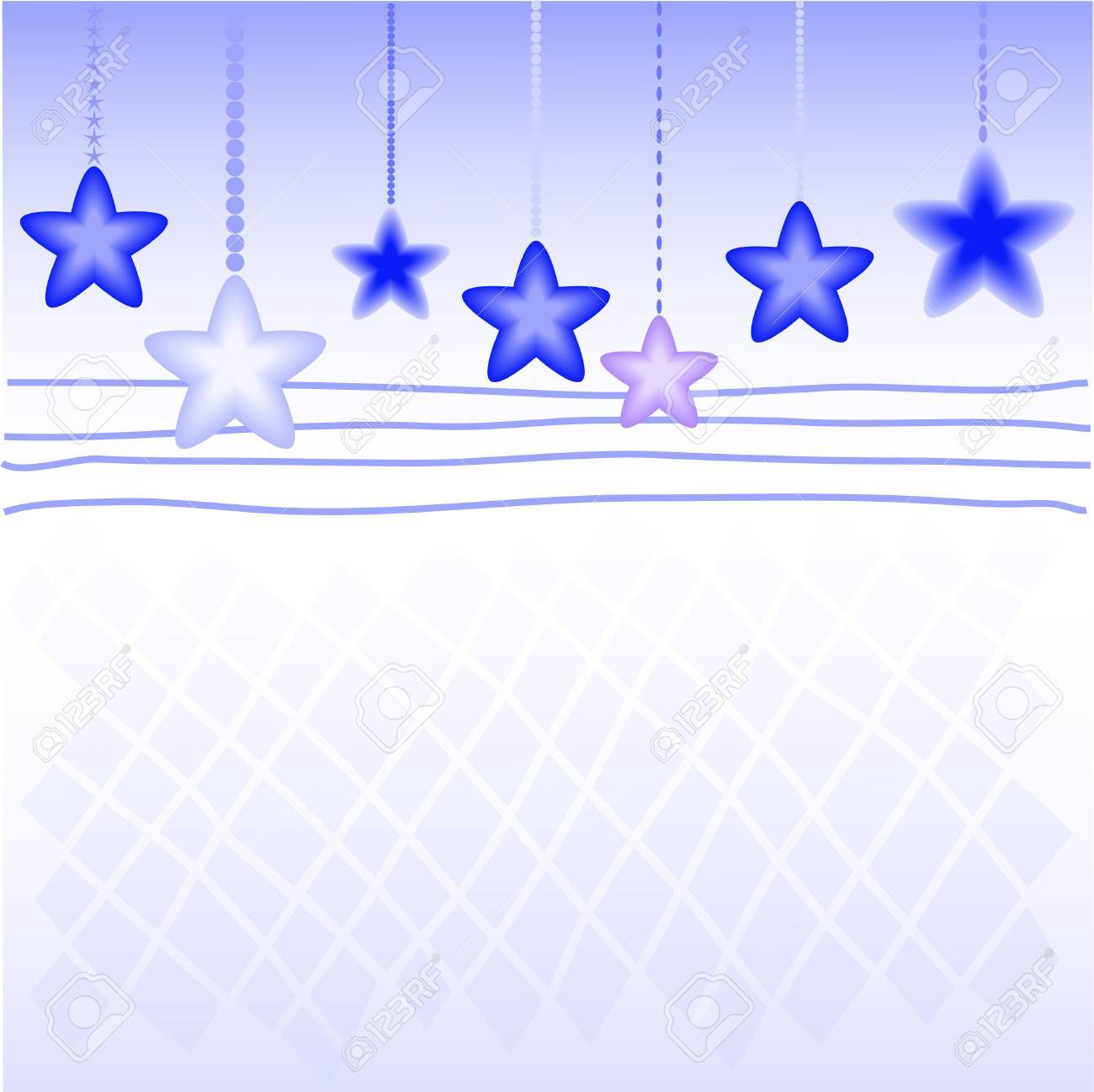 Blue Christmas star on the checkered background Stock Vector - 9556602