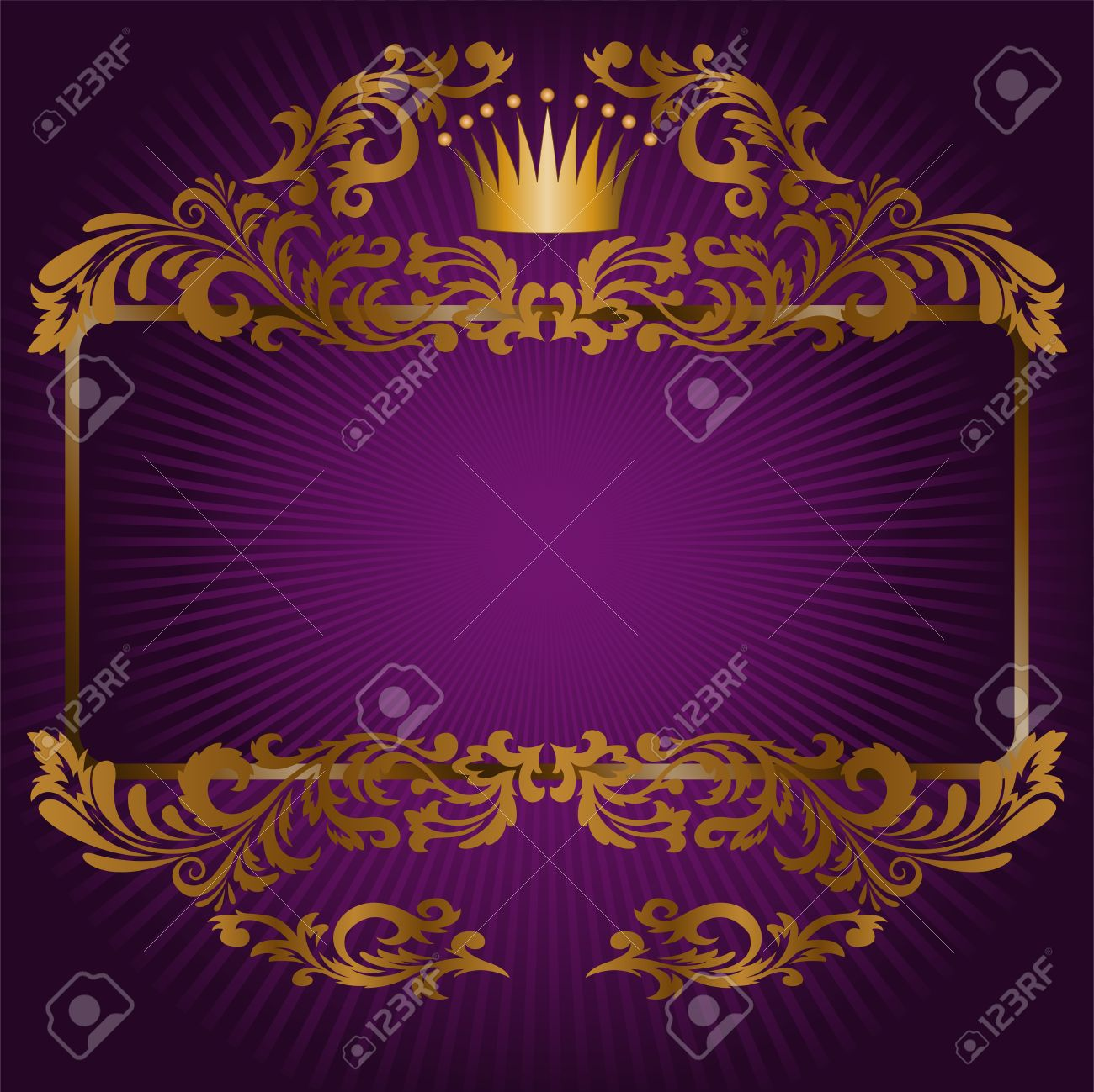 Elegant royal frame with crown vector colourbox - Jpg 1300x1299 Crown Royal Backgrounds