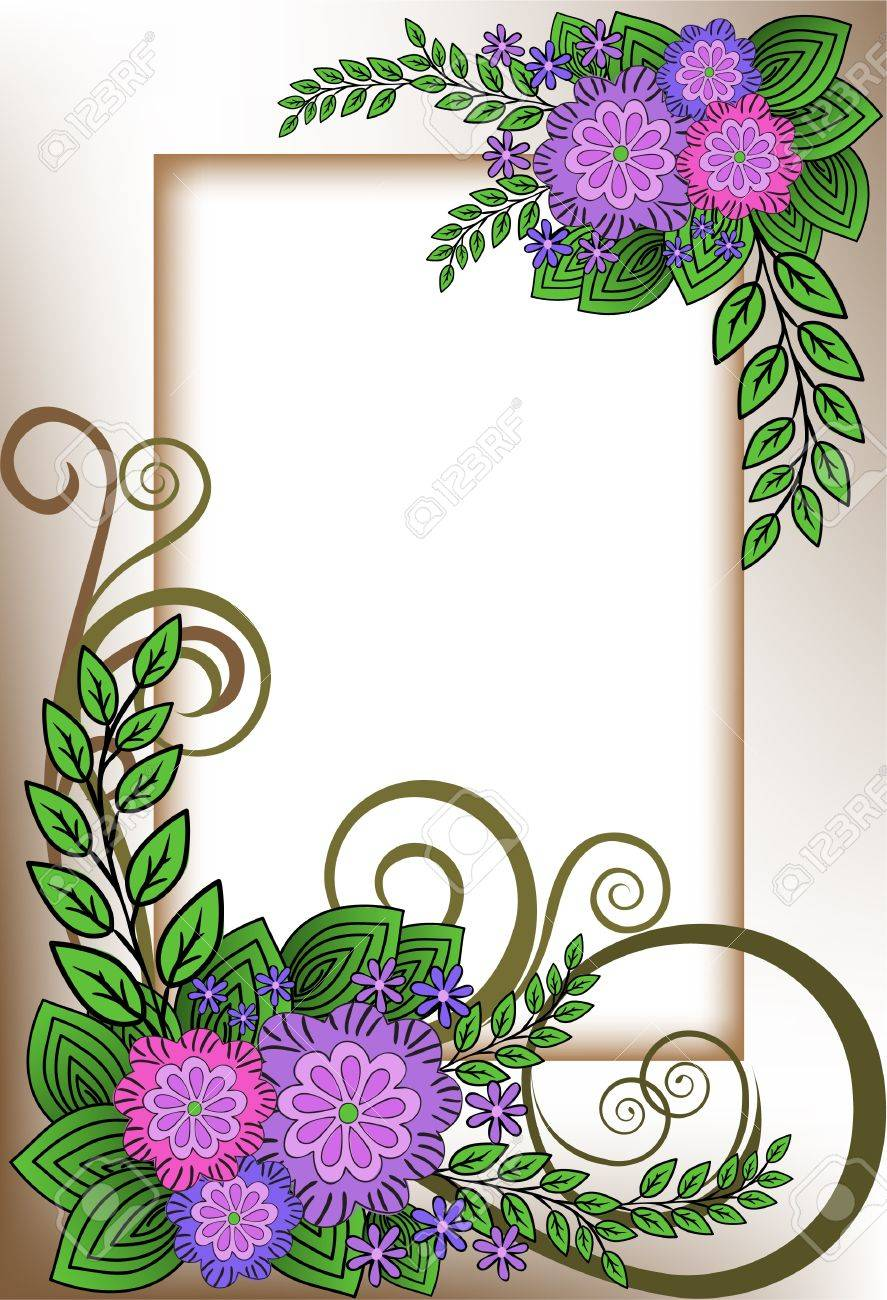 beautiful vertical frame of the lilac flower composition Stock Vector - 9716464