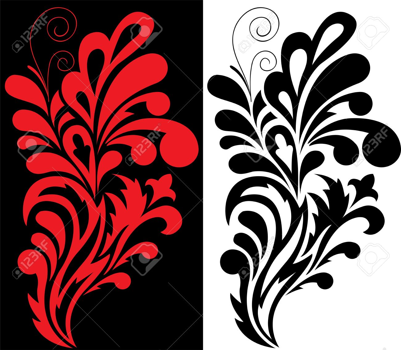 Black And Red Decorative Element For Your Design Royalty Free ...