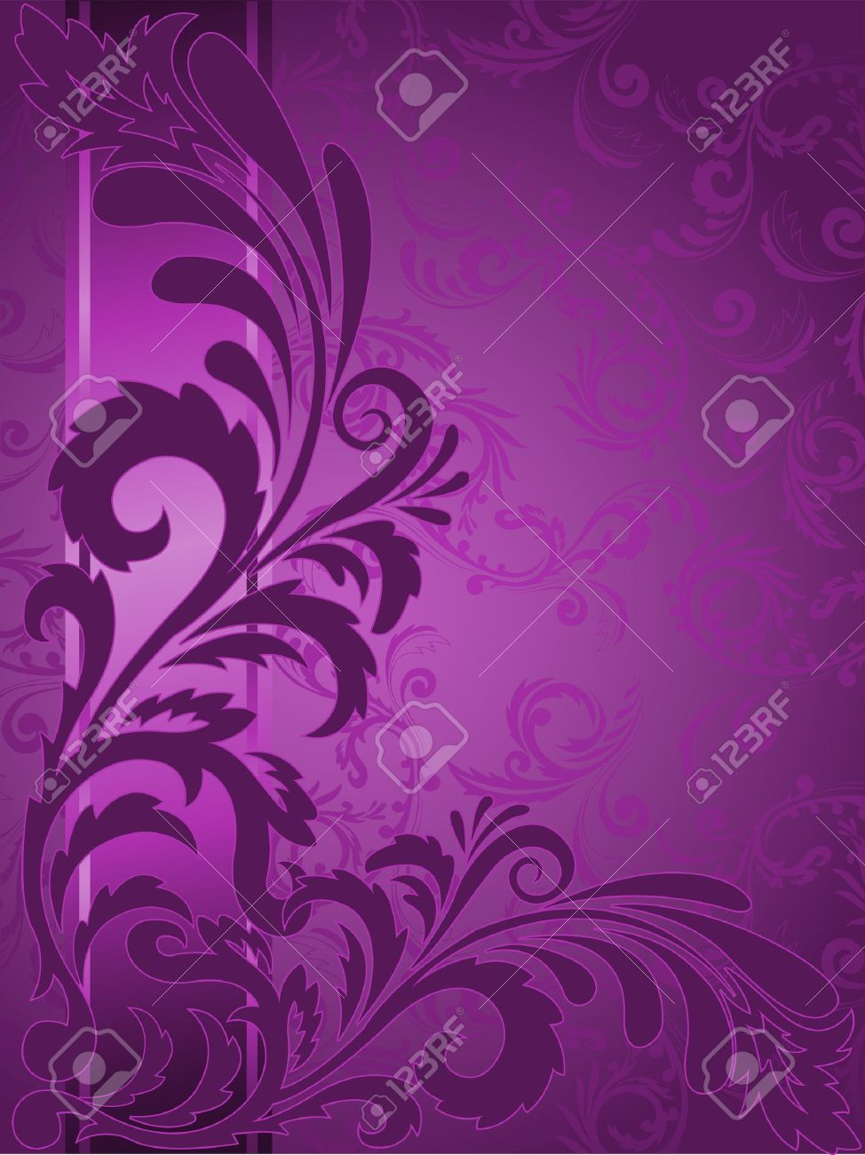 abstract purple background with ornaments on the vertical strip Stock Vector - 10940471