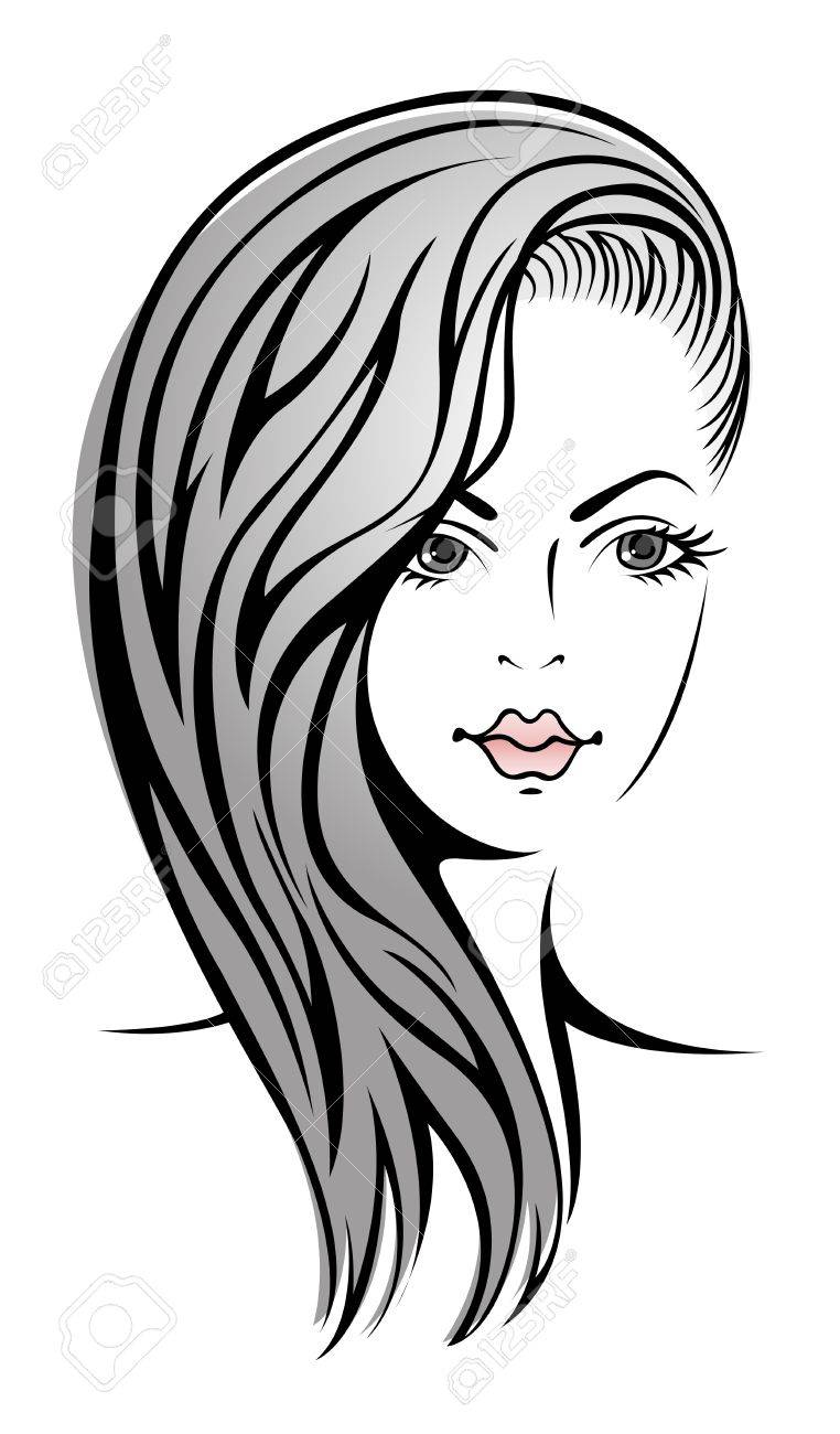 Glamour sketch of beautiful sexy blonde girl Stock Vector - 11007085