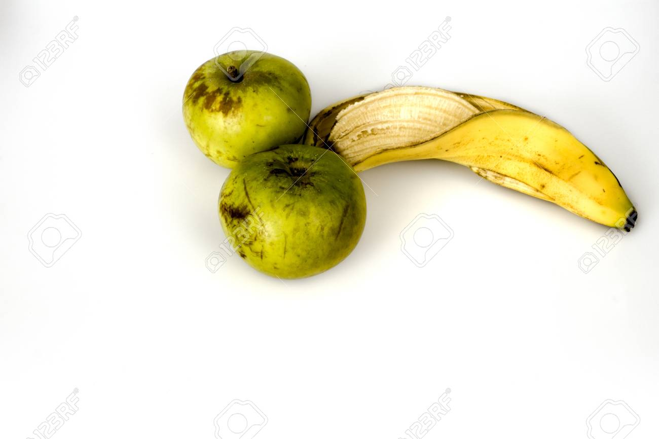 apples and a banana Stock Photo - 19904201