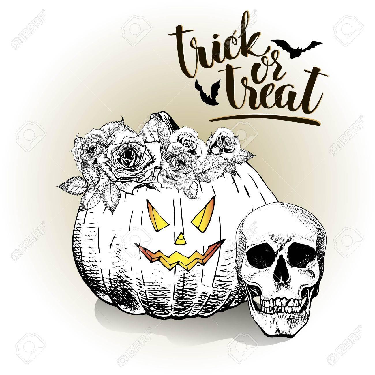 Vector De La Tarjeta De Felicitación Del Cartel Para Halloween ...