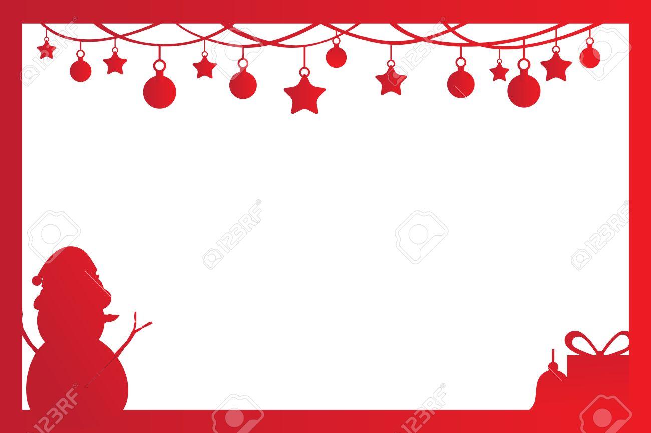 Cadre De Noël Pour La Décoration De Noël En ?uvre, Invitation