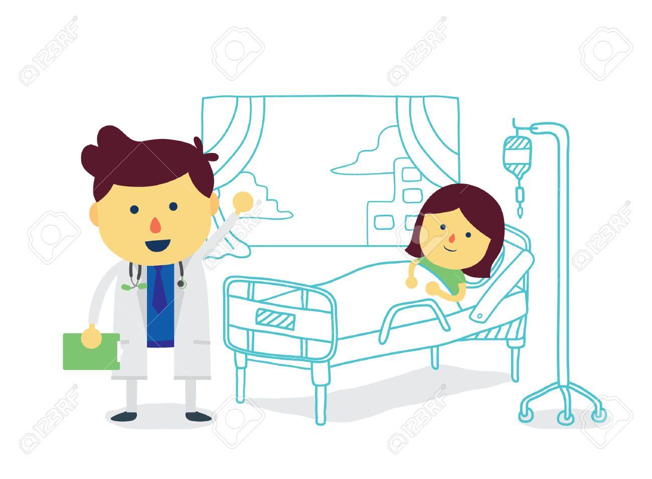 Arts therapeut met meisje patiënt om snel te herstellen in de kamer
