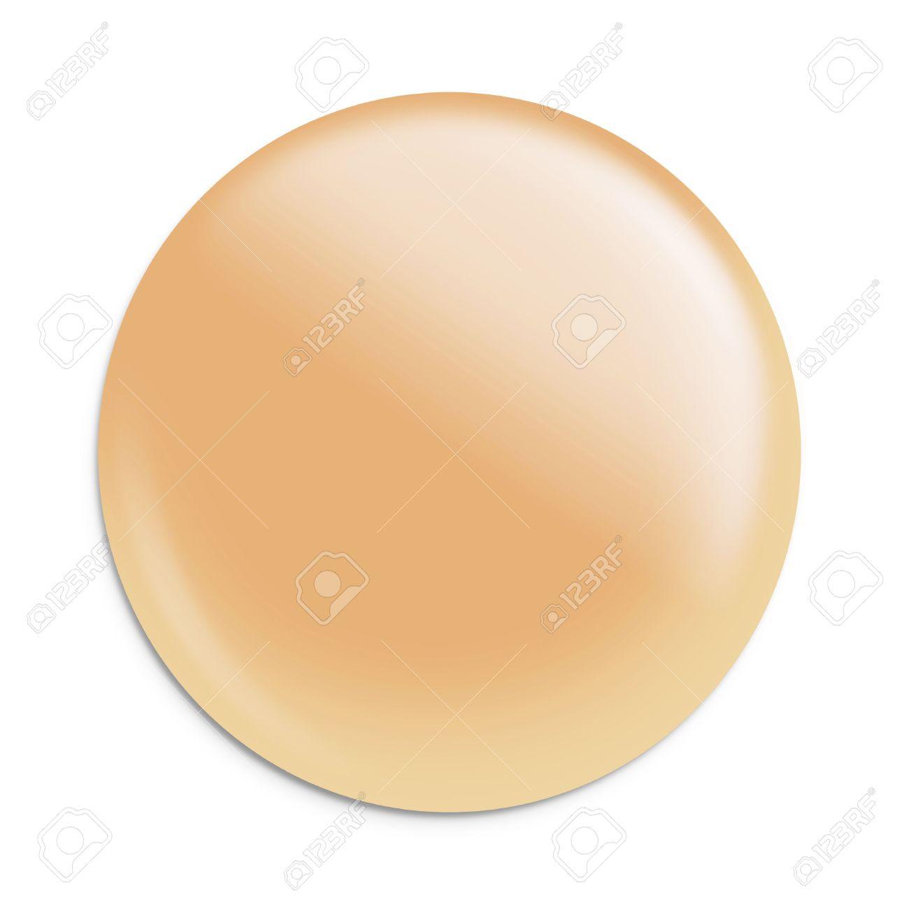 Maquillaje Fundación Color Crema Forma De Círculo Aplicar En ...
