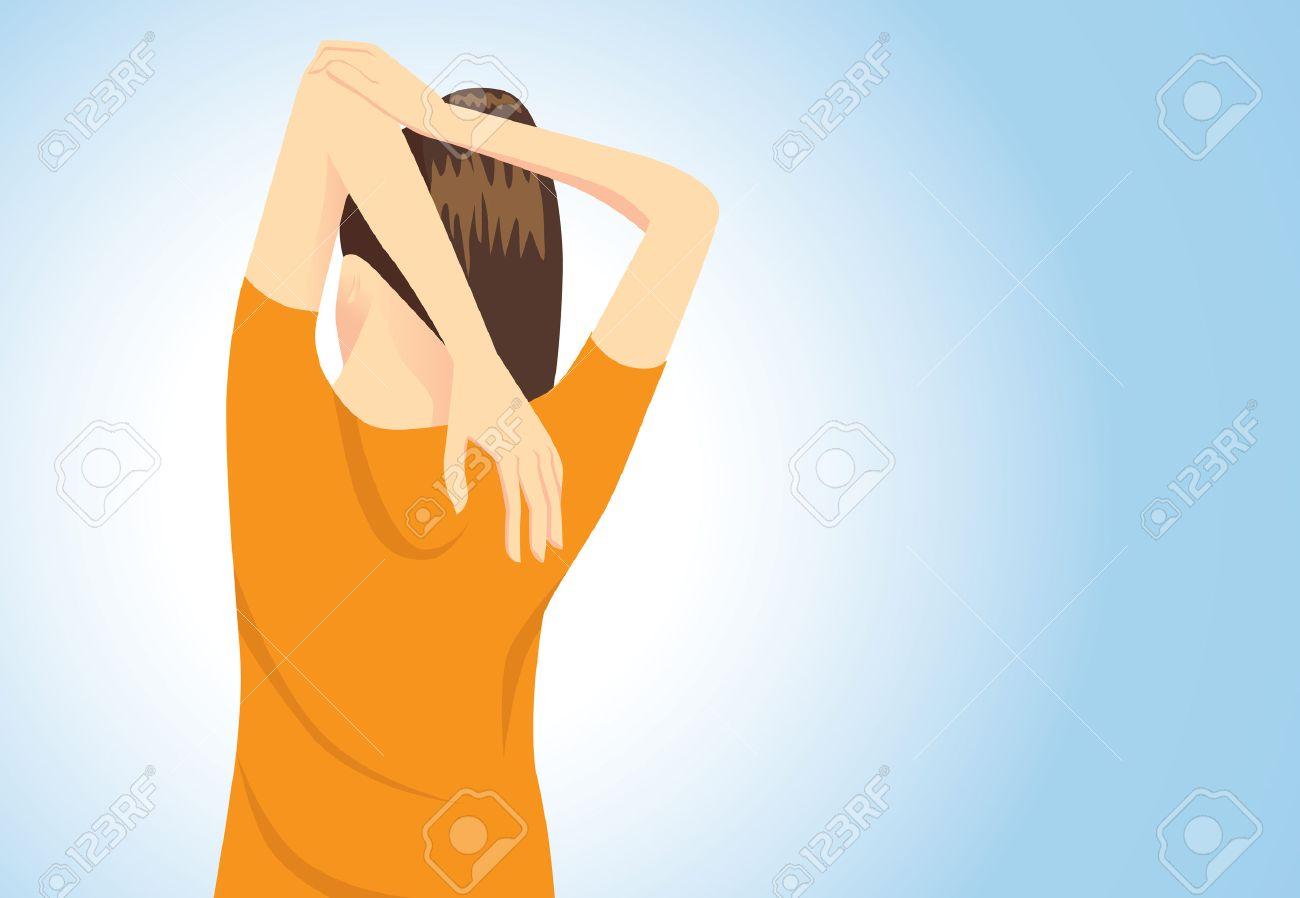 Estirar Los Músculos Postura Para El Tratamiento De Dolores En El ...