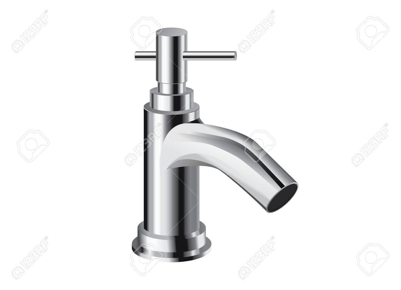 Einloch Bad Wasserhahn. Einhand-Kontrollen. Objekt über Badezimmer ...