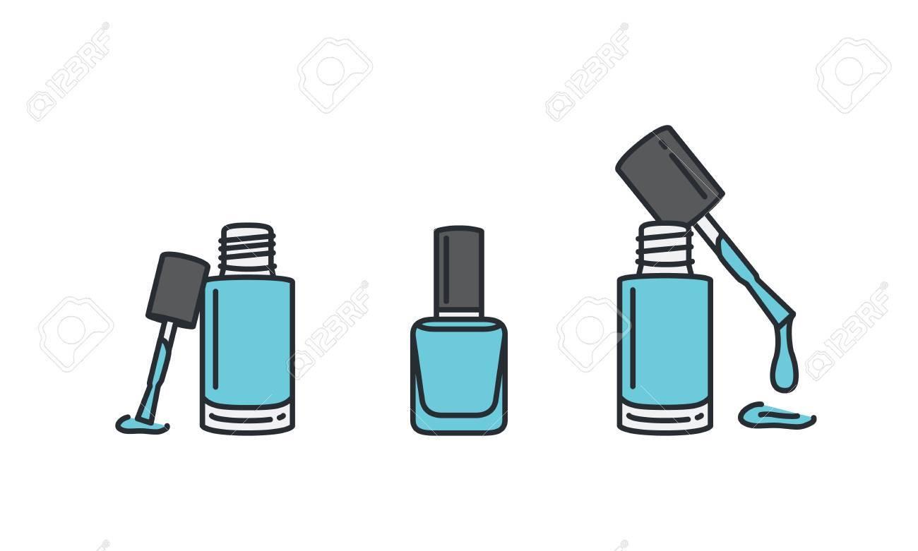 Nail Polish Bottle Icon - To Bend Light