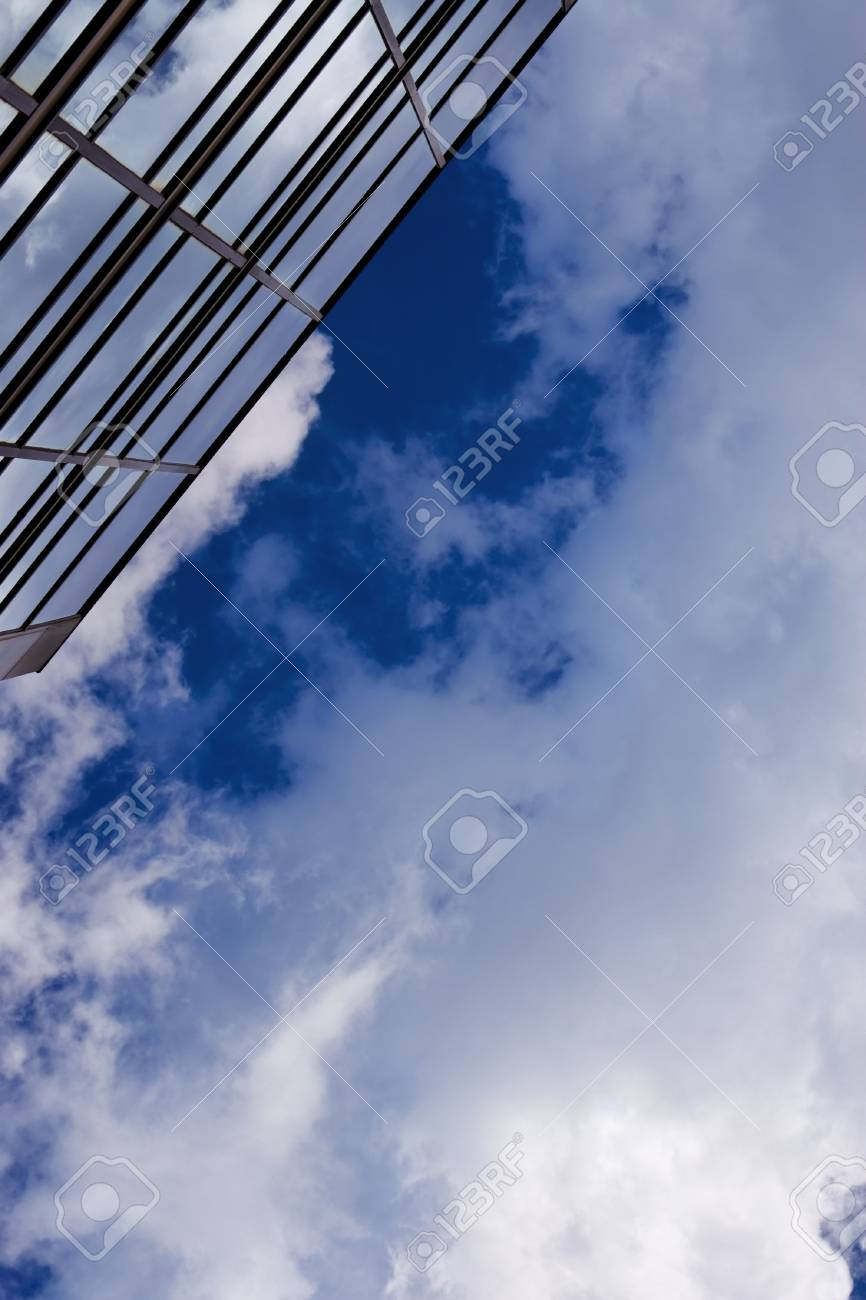 Corporate building rising to the sky. Plenty of copy-space provided. Stock Photo - 2483582