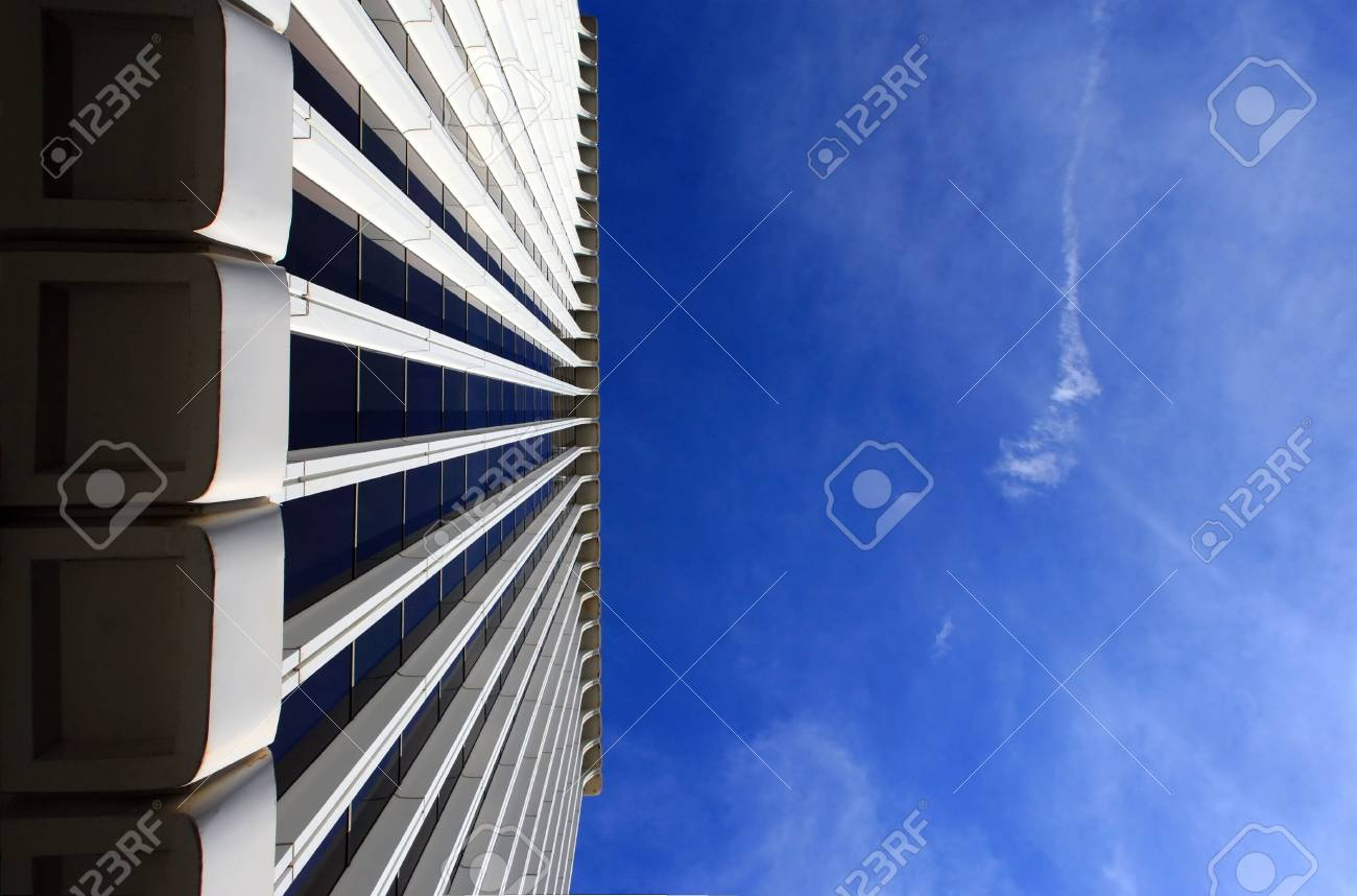 Corporate building, low angle view. Plenty of copy-space provided. Stock Photo - 2483573