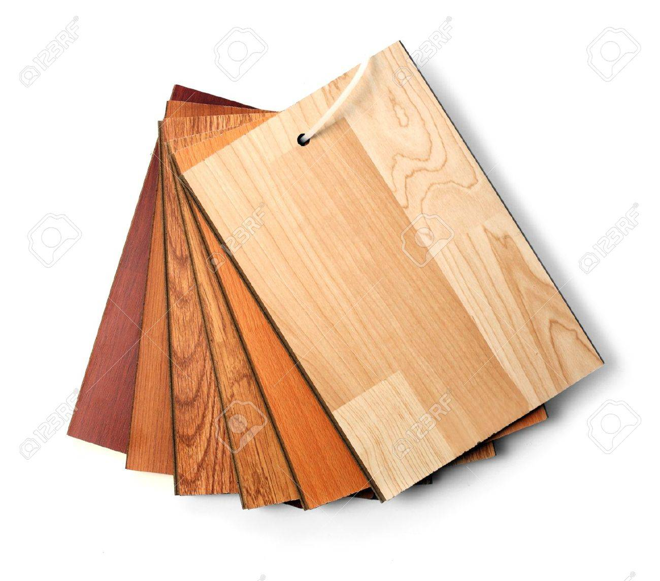 wood floor samples: Sample pack of wooden flooring laminate isolated on  white - Wood Floor Samples Stock Photos Images. Royalty Free Wood Floor