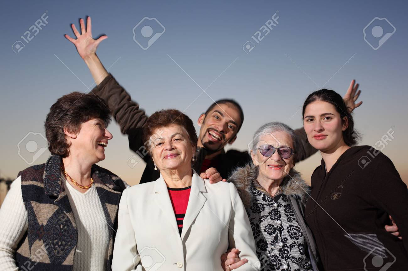 Portrait of a happy family together outdoors Stock Photo - 4665296