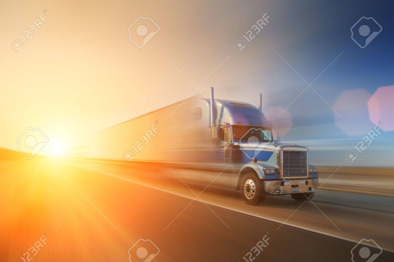 Truck on highway. California, USA Stock Photo - 5948644