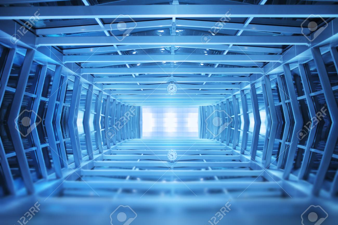 Blue interior background design Stock Photo - 8860718