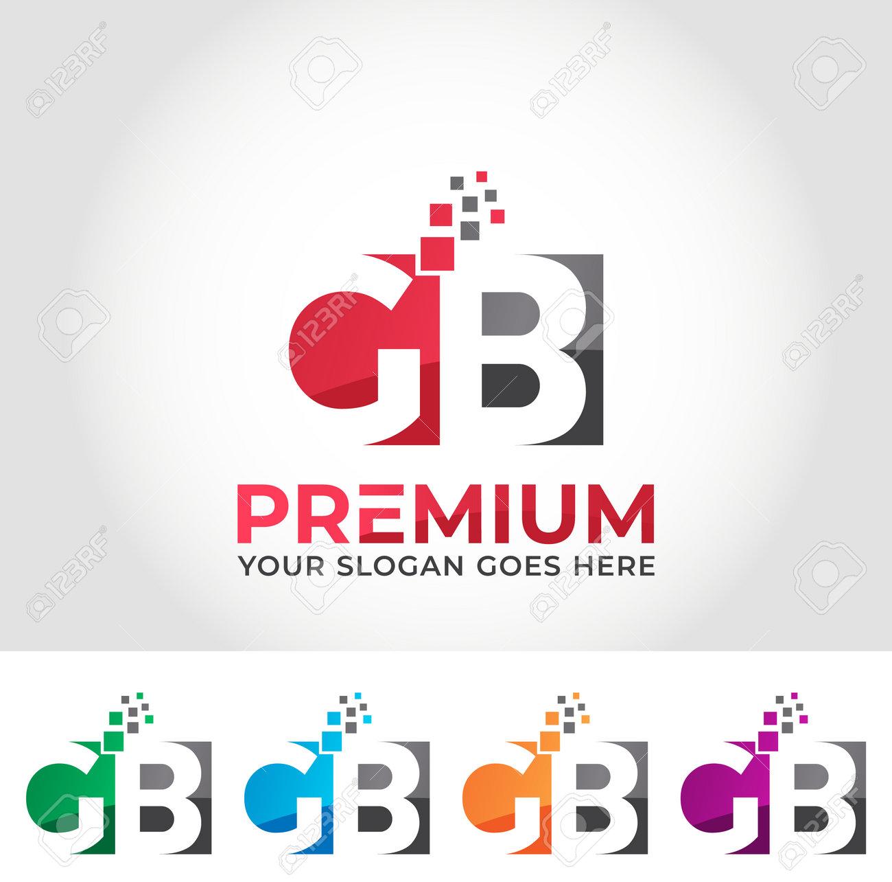 GB Alphabet Logo Design Concept - 161200626