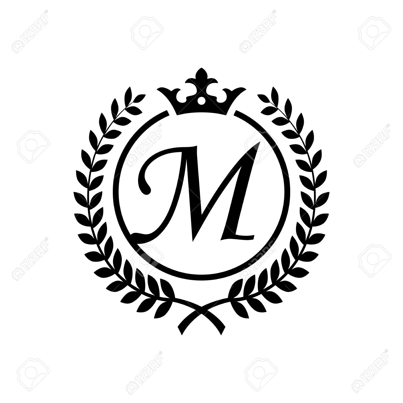 Royal letter m symbol stock vector 66644105
