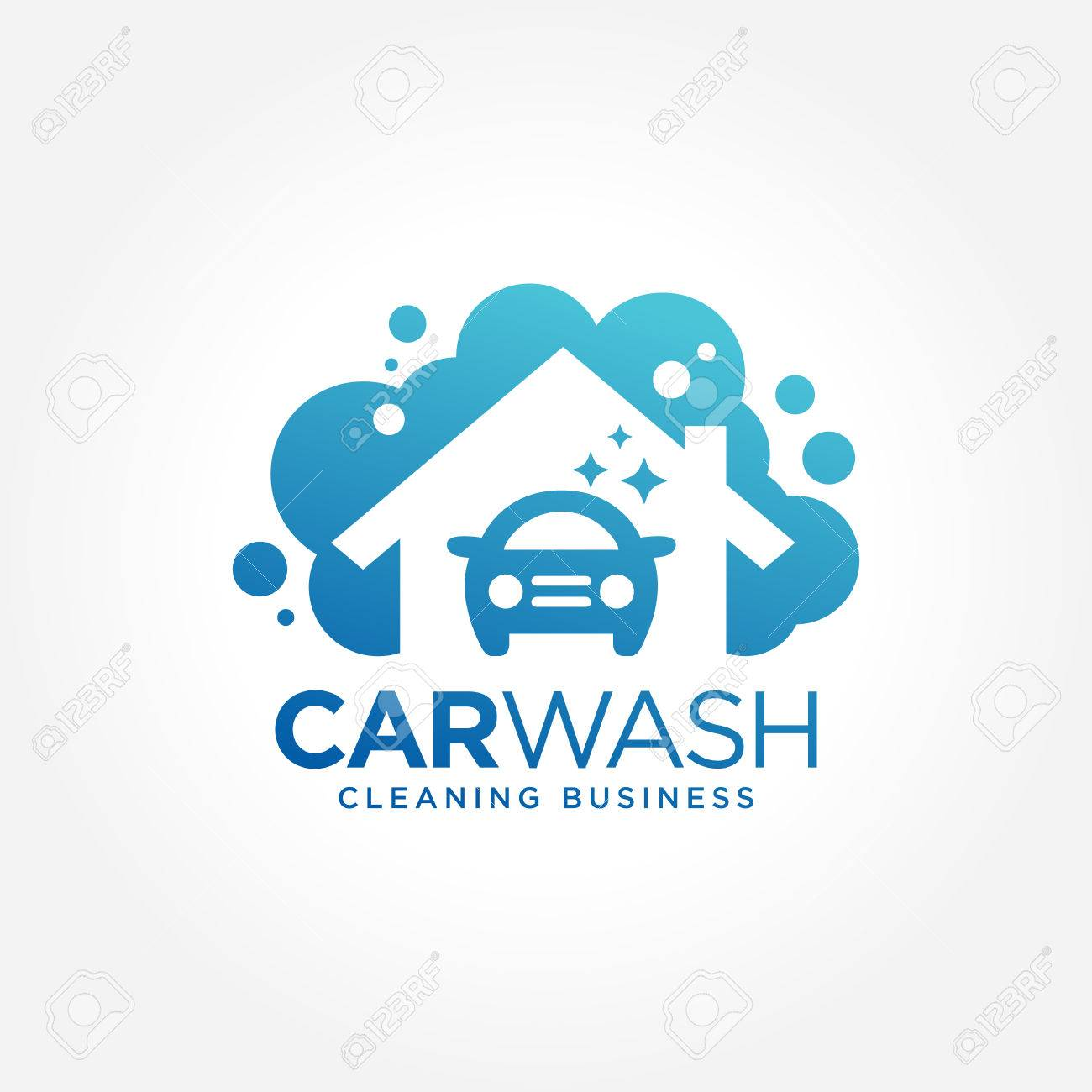 Car Wash Logo Design Royalty Free Cliparts Vectors And Stock