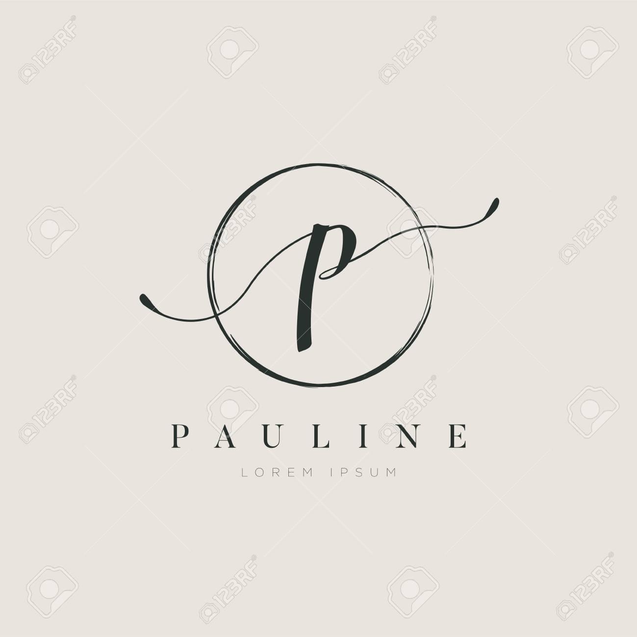 Simple Elegant Initial Letter Type P Logo Design - 125122877