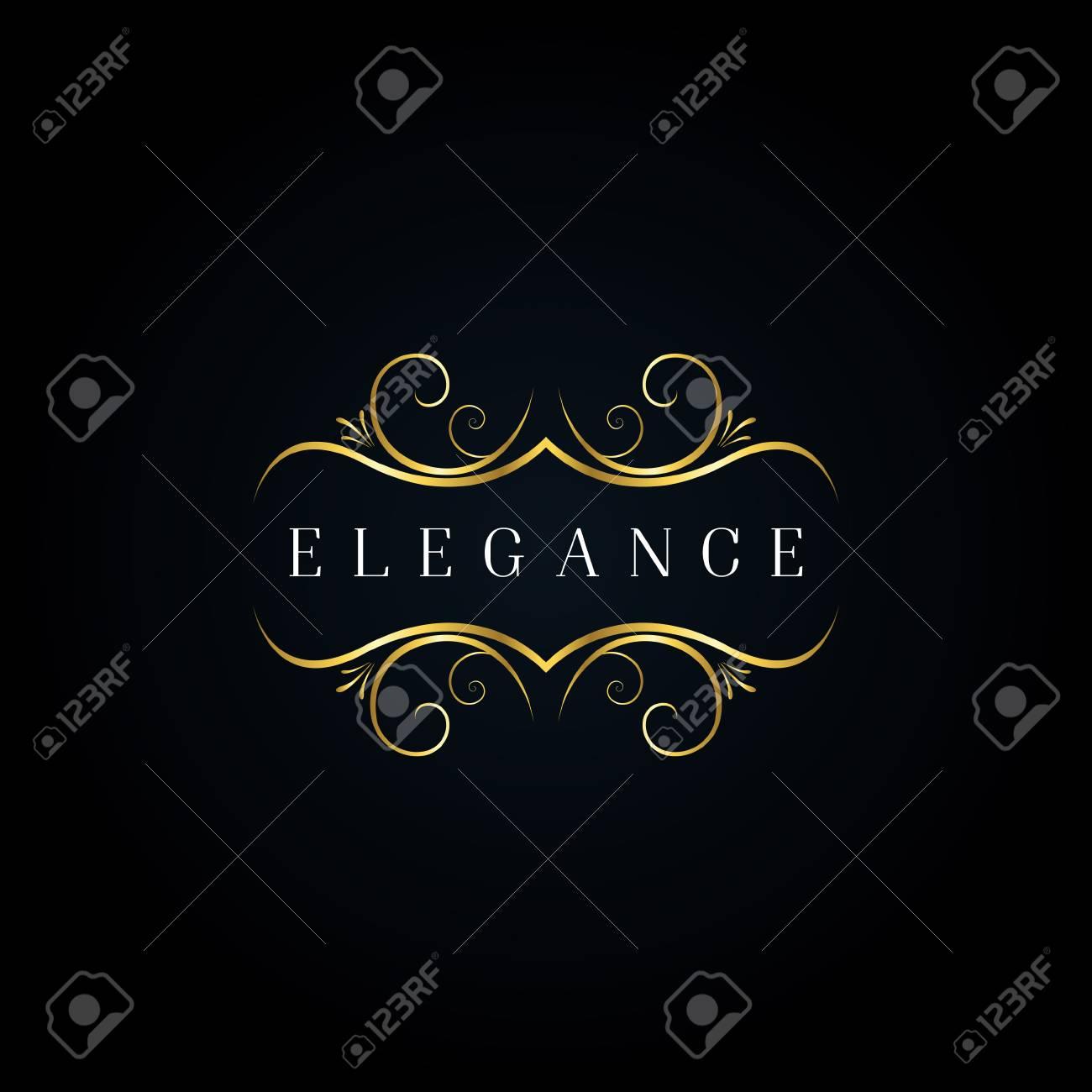 Gold Elegance Ornament Logo - 125123866