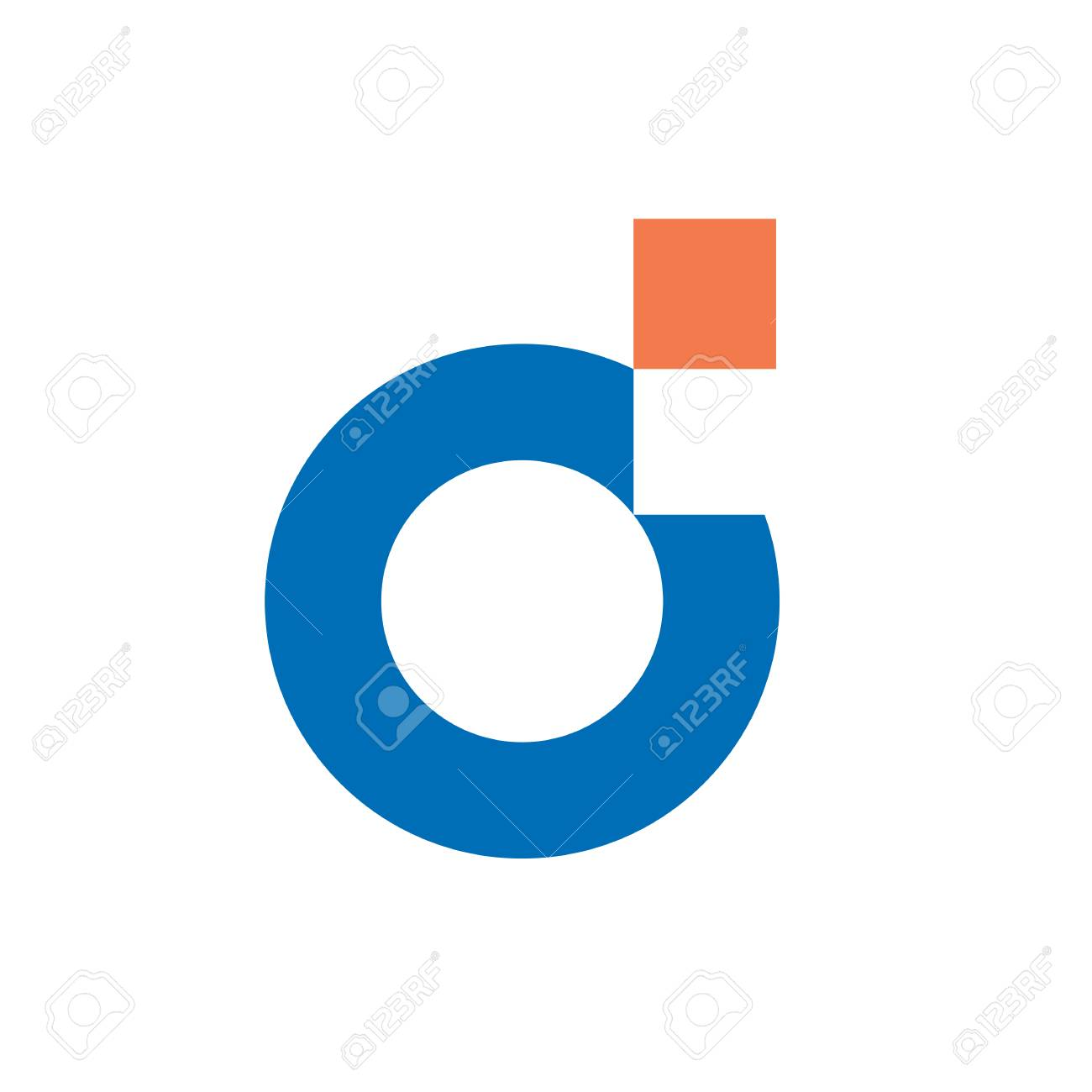 Digital Letter D Logo  Clean and simple logo template, made from