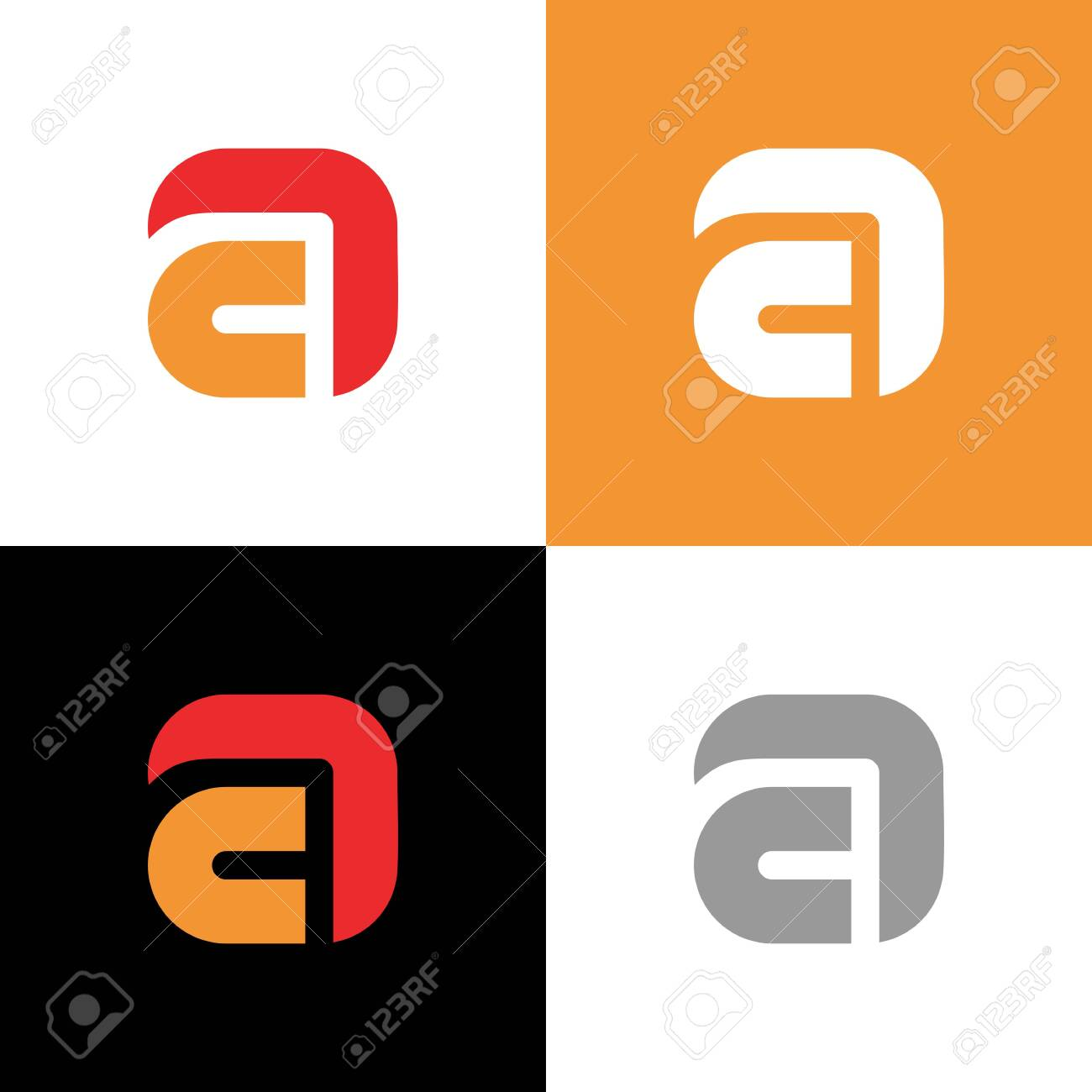 Letter A Company Name Logo Template Monogram Design Elements Royalty Free Cliparts Vectors And Stock Illustration Image 136622791