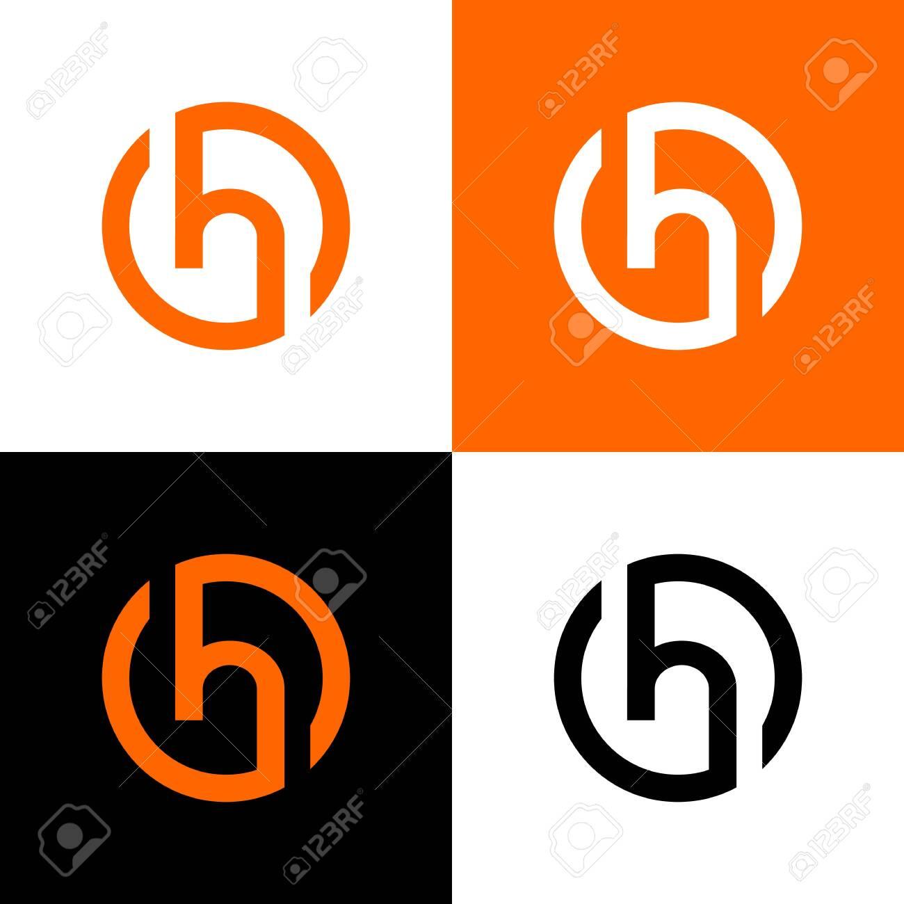 Circle letter h logo design template elements, vector illustration - 136622593