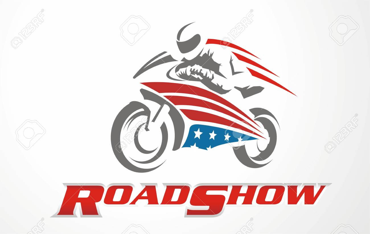 Vector Stylized Motorcycle Logo Graphic Illustration For Motorbike