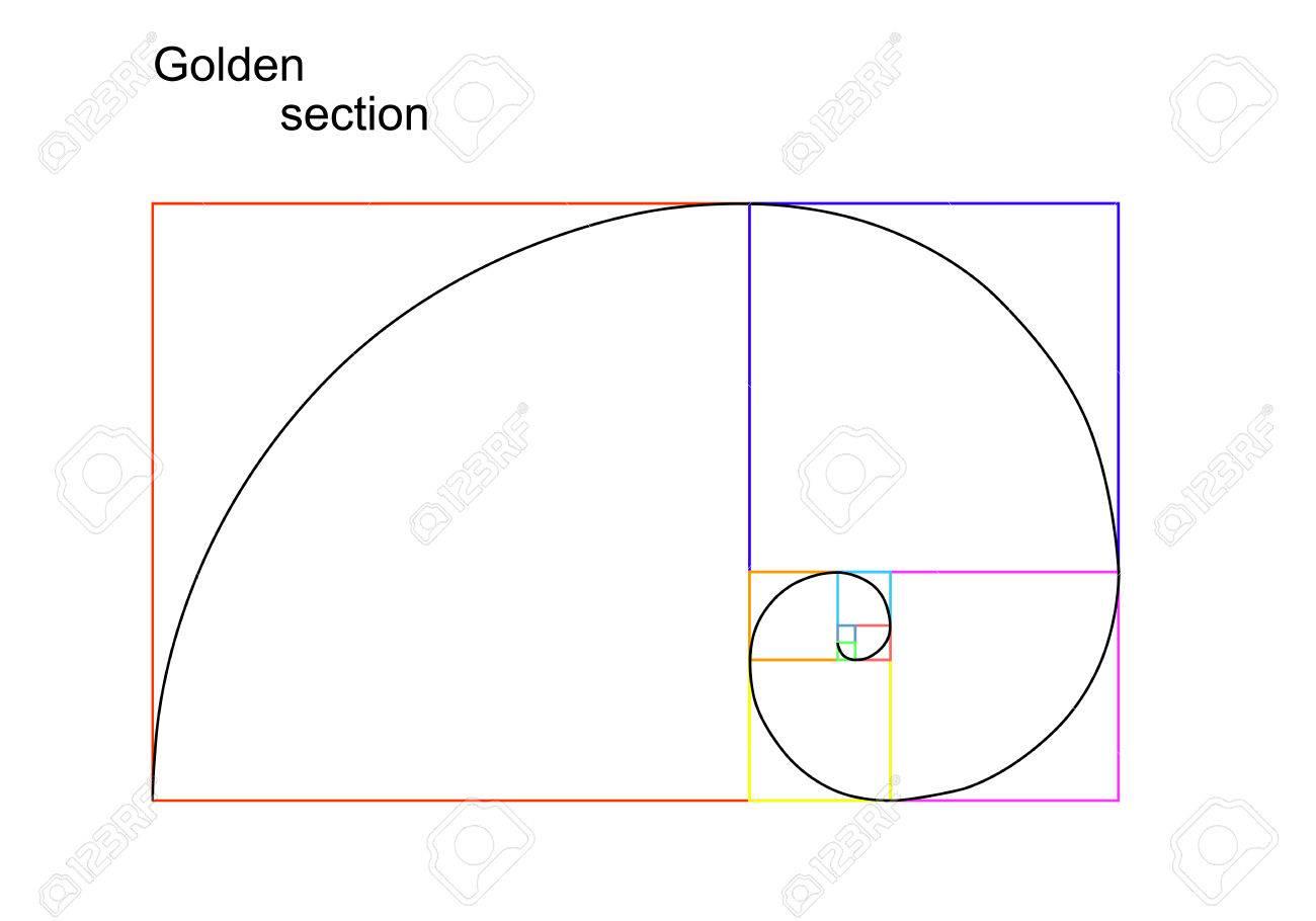 Illustration of golden section ratio - 29298510