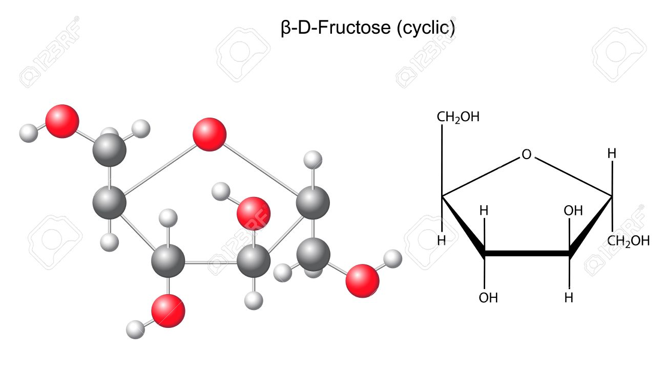D Fructose Structure Structural chemical formula