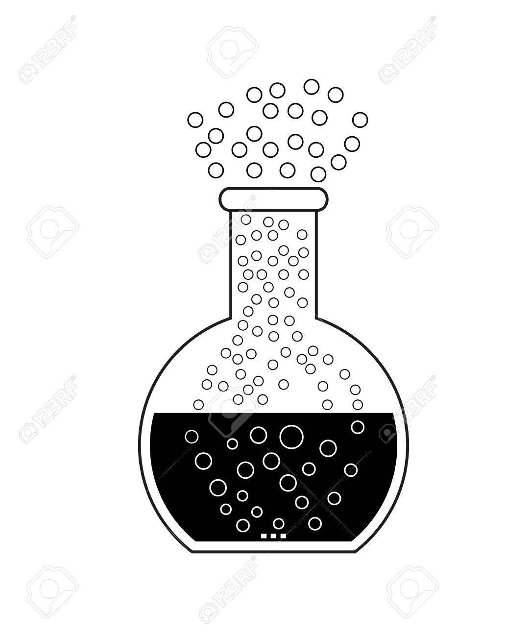 Background image bottom 0 - Flat Bottom Chemical Flask Laboratory Glassware Isolated On White Background 2d Illustration Stock
