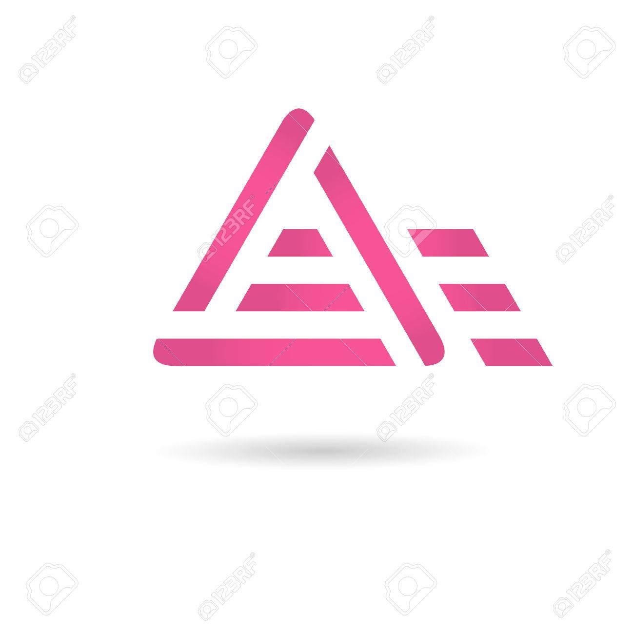 A letter logo, motion concept, 2d vector, - 45061312