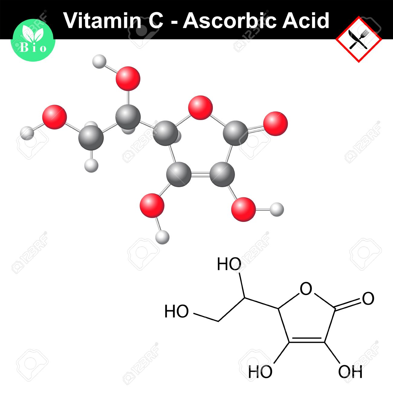 Ascorbic acid ascorbate molecule structural chemical formula ascorbic acid ascorbate molecule structural chemical formula and model vitamin c e300 buycottarizona