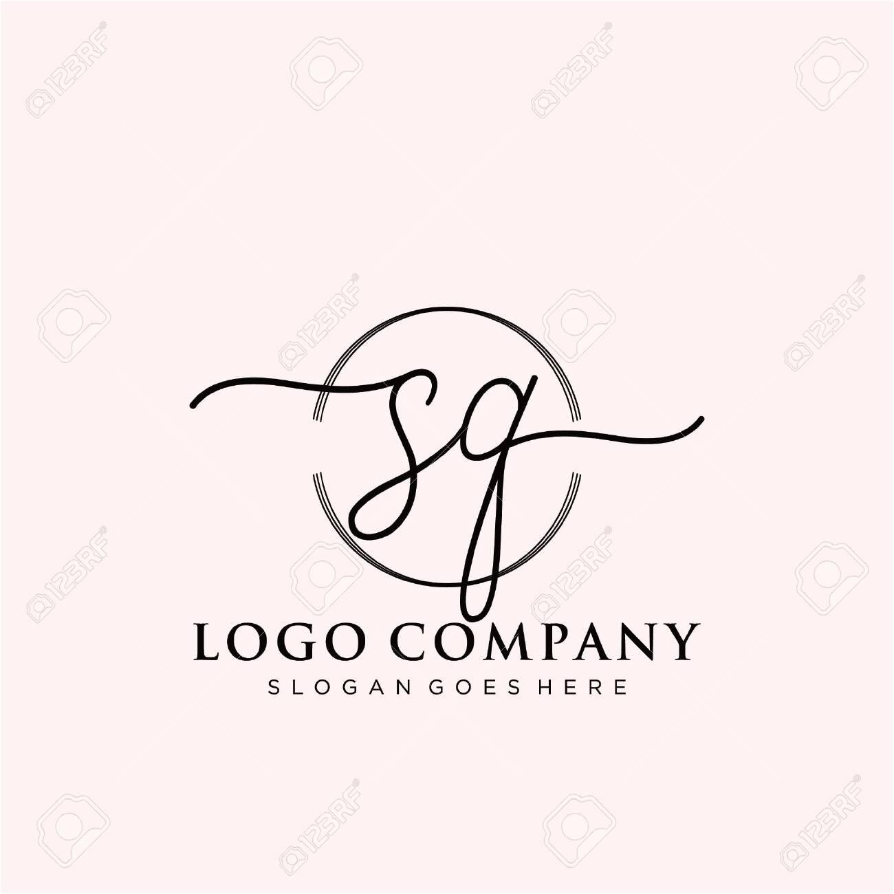Initial handwriting logo design Beautiful design handwritten logo for fashion, team, wedding, luxury logo. - 147622015