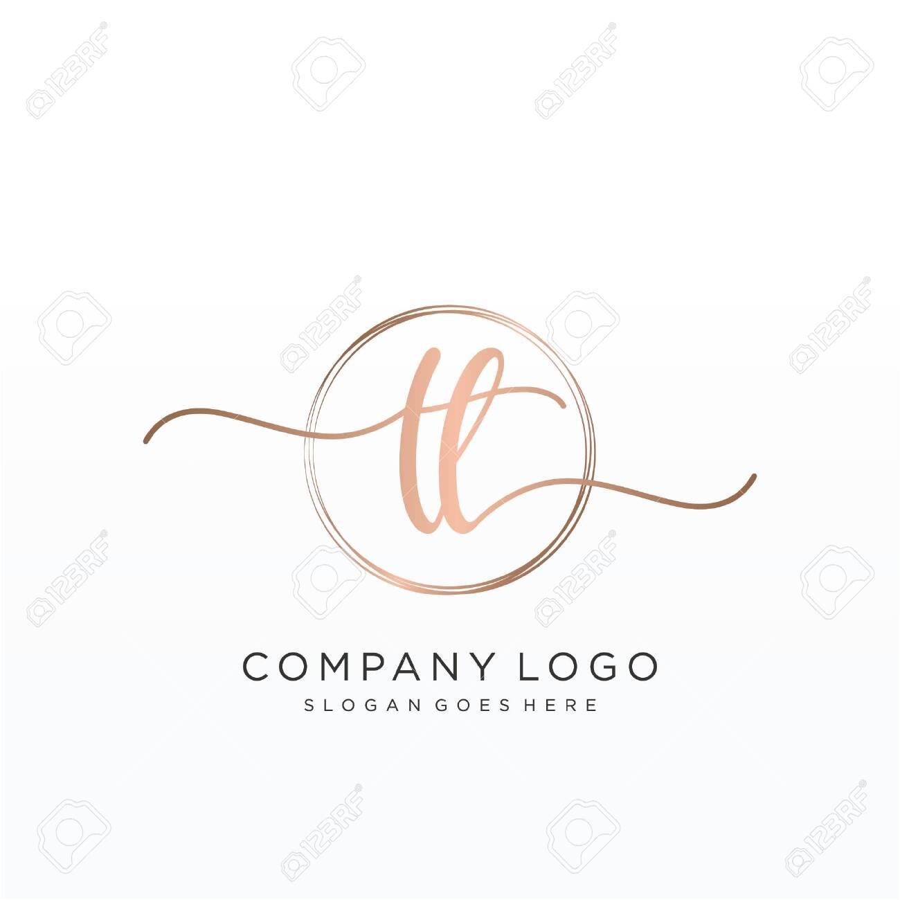 Initial handwriting logo design Beautyful designhandwritten logo for fashion, team, wedding, luxury logo. - 147880954