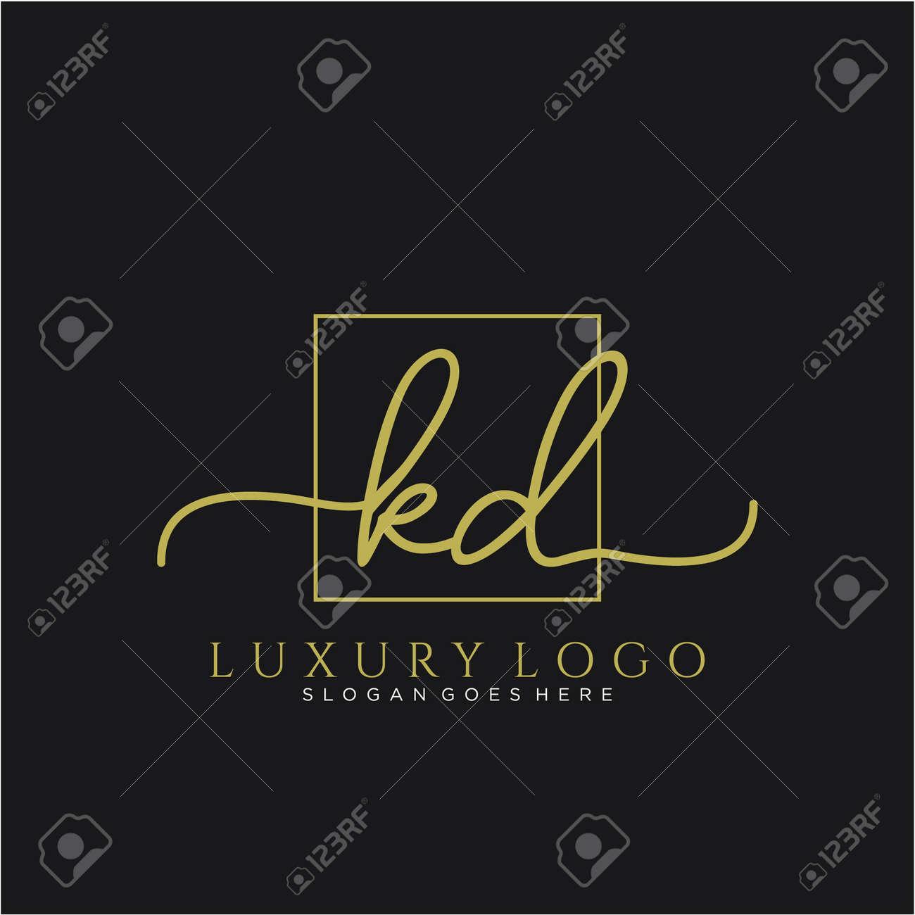 Initial handwriting logo design beautiful design handwritten logo for fashion, team, wedding, luxury logo. - 148713040