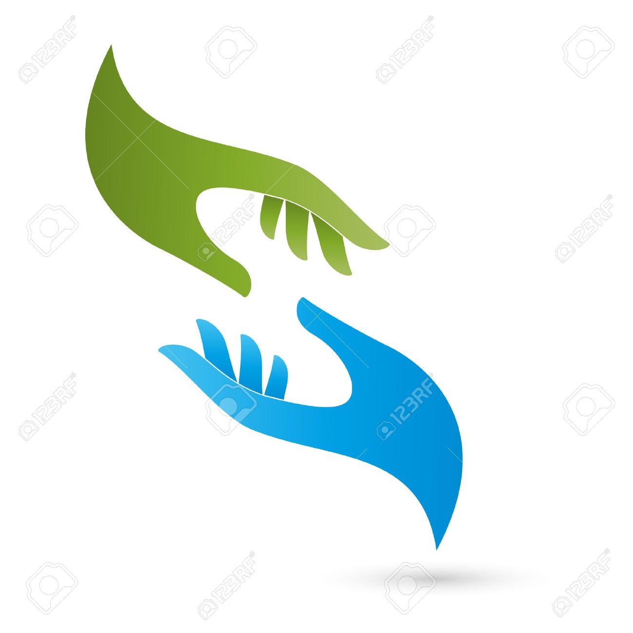 Two hands logo, pastoral care, massage - 43688171
